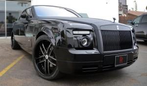 Rolls Royce Black Carbon Fiber Wrap