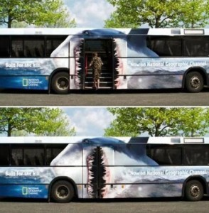 bus wraps for National Geographic