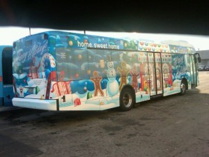 holiday bus wraps