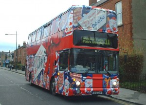 Christmas bus wraps