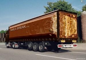 truck graphics for Kit Kat