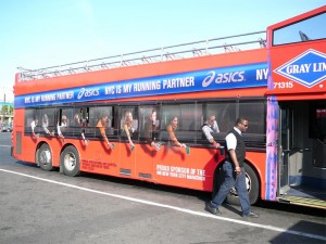 Asics bus wrap