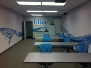 Filtec wall graphic