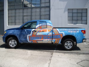 truck wraps for surf school