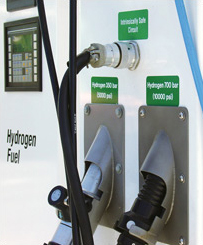 Hydrogen Fueled Car Approaching