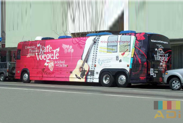 Kate Voegele Bus Wrap