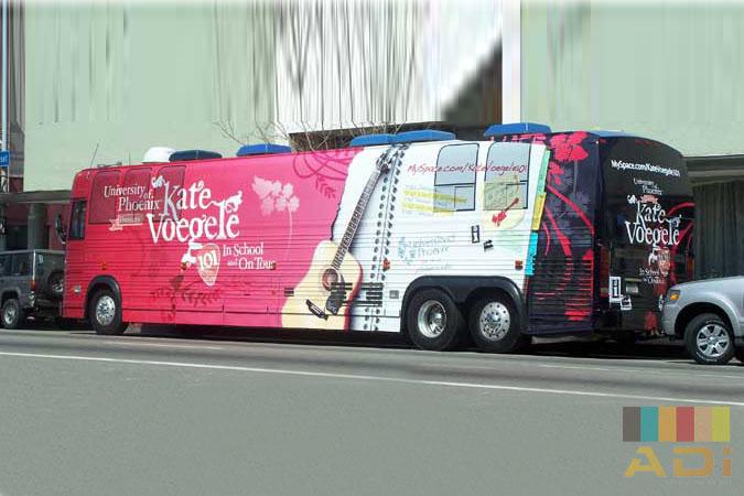 Kate Voegele Bus Wrap