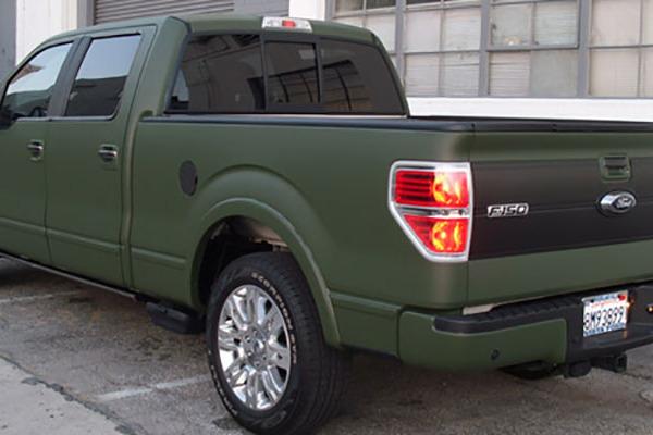 78221b79d5 Olive Matte Custom Vehicle Wrap