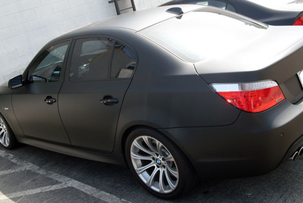 Black Matte Car Wrap