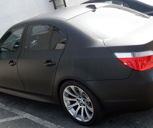 Black BMW Matte Vinyl Wrap