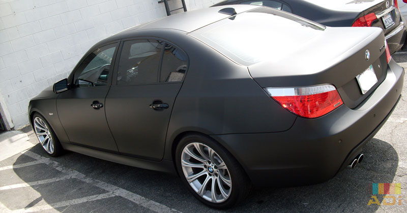 Black BMW Matte Vinyl Wrap