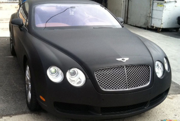 Black Matte on a Bentley