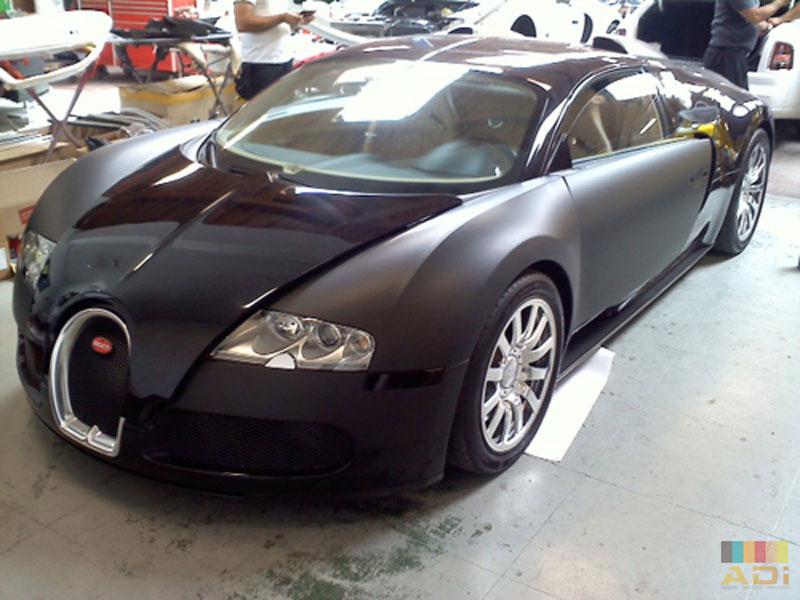 Black matte Bugatti Veyron Custom Wrap