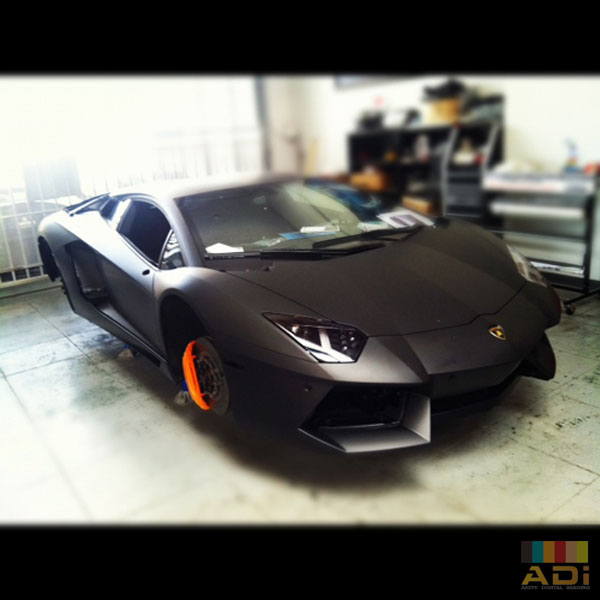 Custom Black Matte Lamborghini Custom Car Wrap