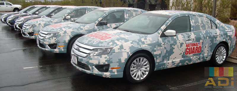 Fleet Wrap national Guard Car