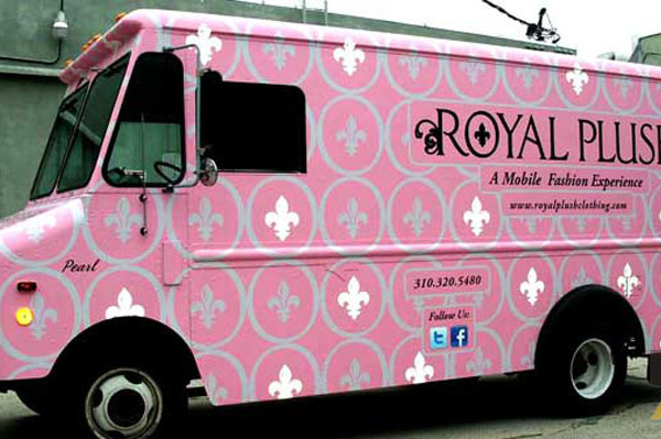 Mobile Fashion Experience Royal Plush Food Truck Wrap