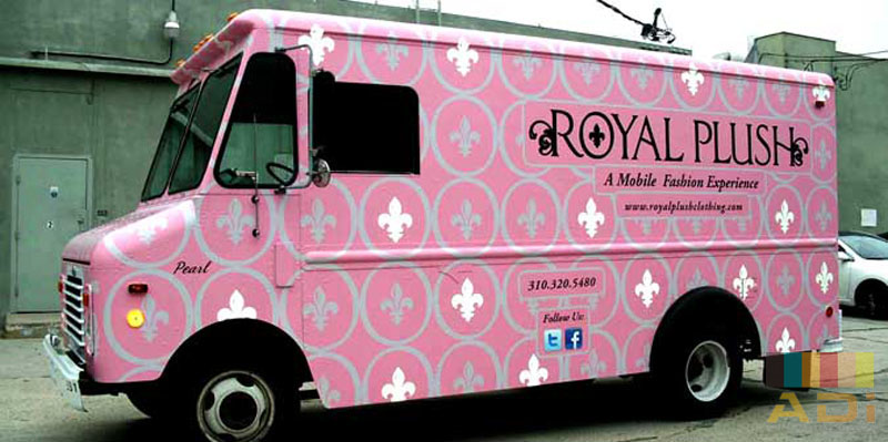 Mobile Fashion Experience Royal Plush Food Truck Wrap