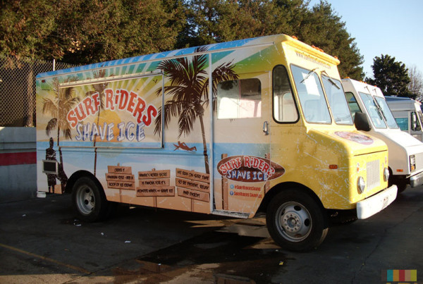Food Truck Wrap Surf Riders Shave Ice