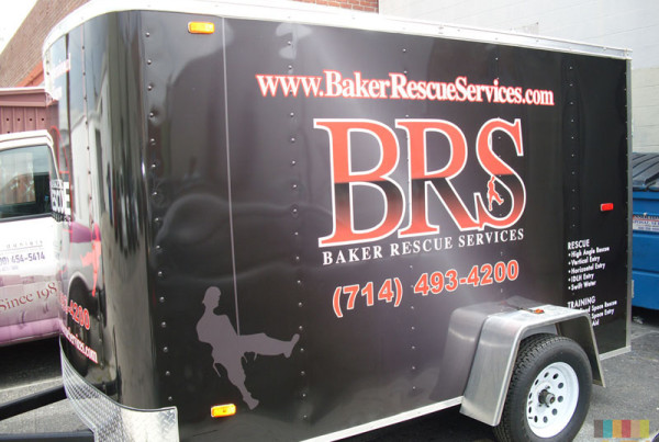 Baker Rescue Service Trailer Wrap