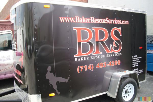 Baker Rescue Service Trailer Wrap