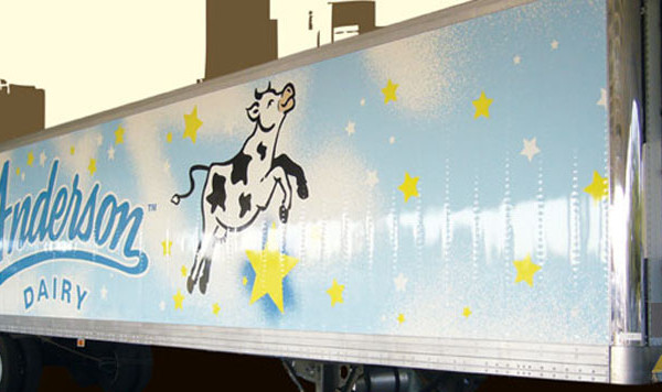 Anderson Dairy Truck Side Wrap