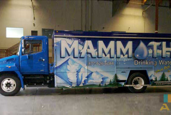 Mammoth Drinking Water Truck Side Wrap