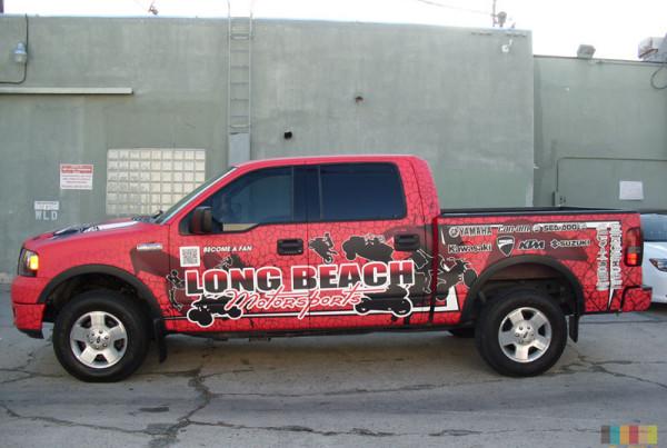 Longbeach Motorsports Truck Wrap