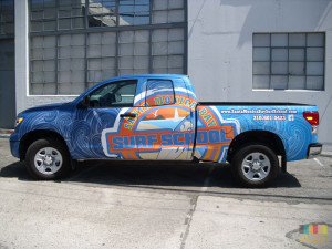 Santa Monica Surf School Truck Wrap