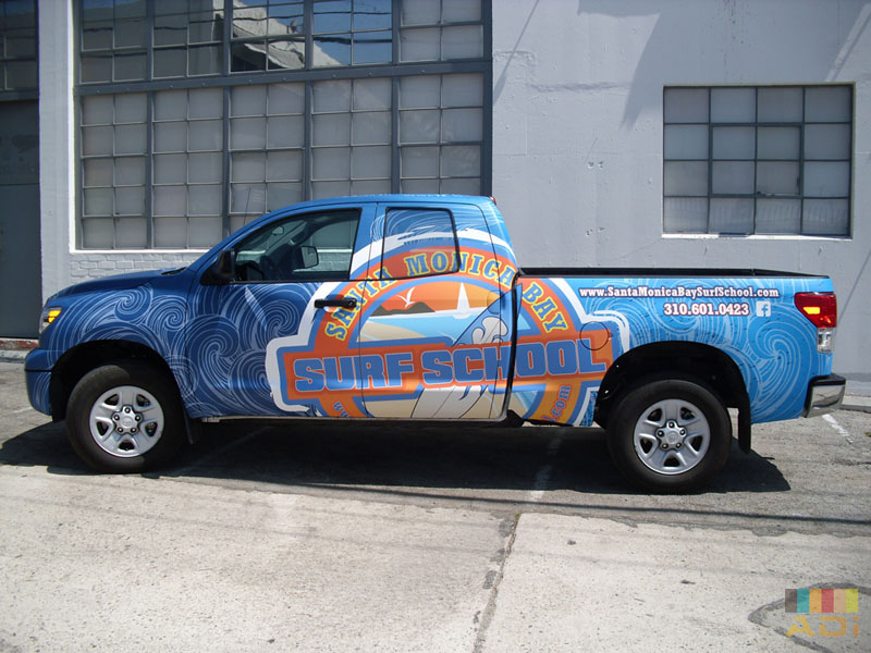 Santa Monica Surf School Truck Wrap