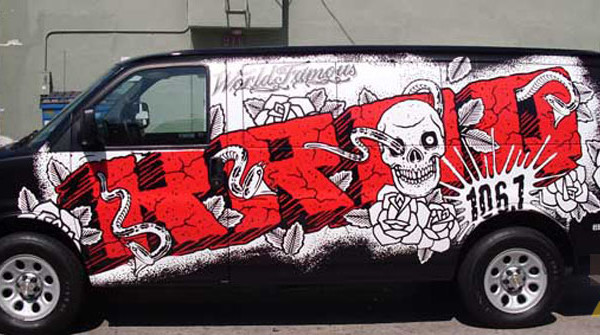 KROQ 106.7 Grafitti Van Wrap