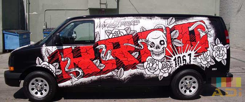 d22392977f KROQ 106.7 Grafitti Van Wrap. View Larger