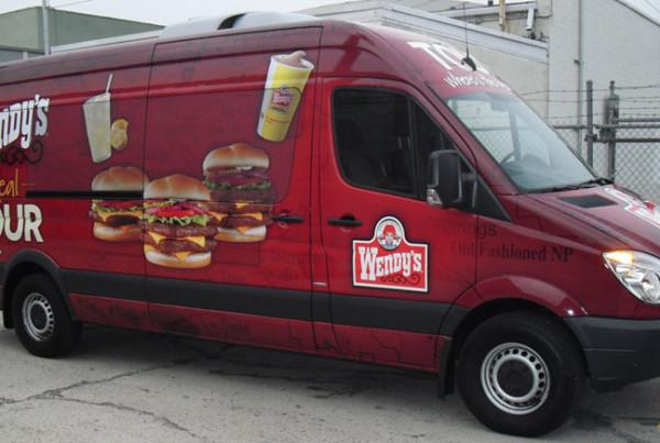Wendy's Mobile Advertisement Van Wrap