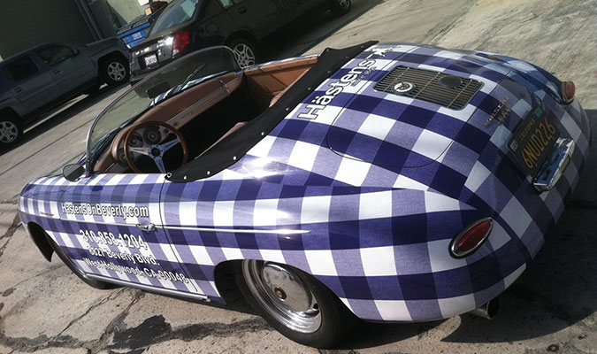 Plaid Rag Top Vinyl Car Wraps