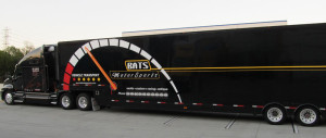 Motor Sport Mobile Transportation in Truck Wrap