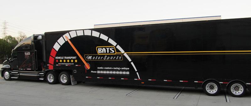 Motor Sport Mobile Transportation in Truck Wrap