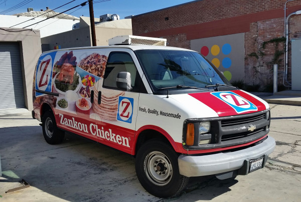 Zankou Chicken Delivery Van Wrap