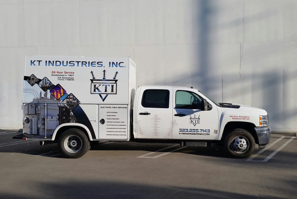 KT Insudstries Truck Wrap