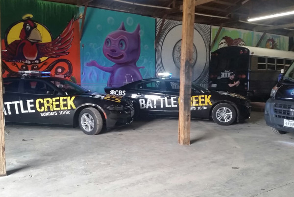 Battle Creek Television Show Advertises using Car Wrap