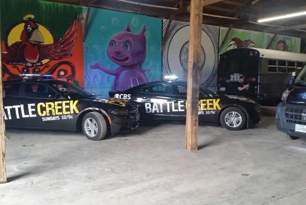 Battle Creek Television Show Advertises using Car Wrap