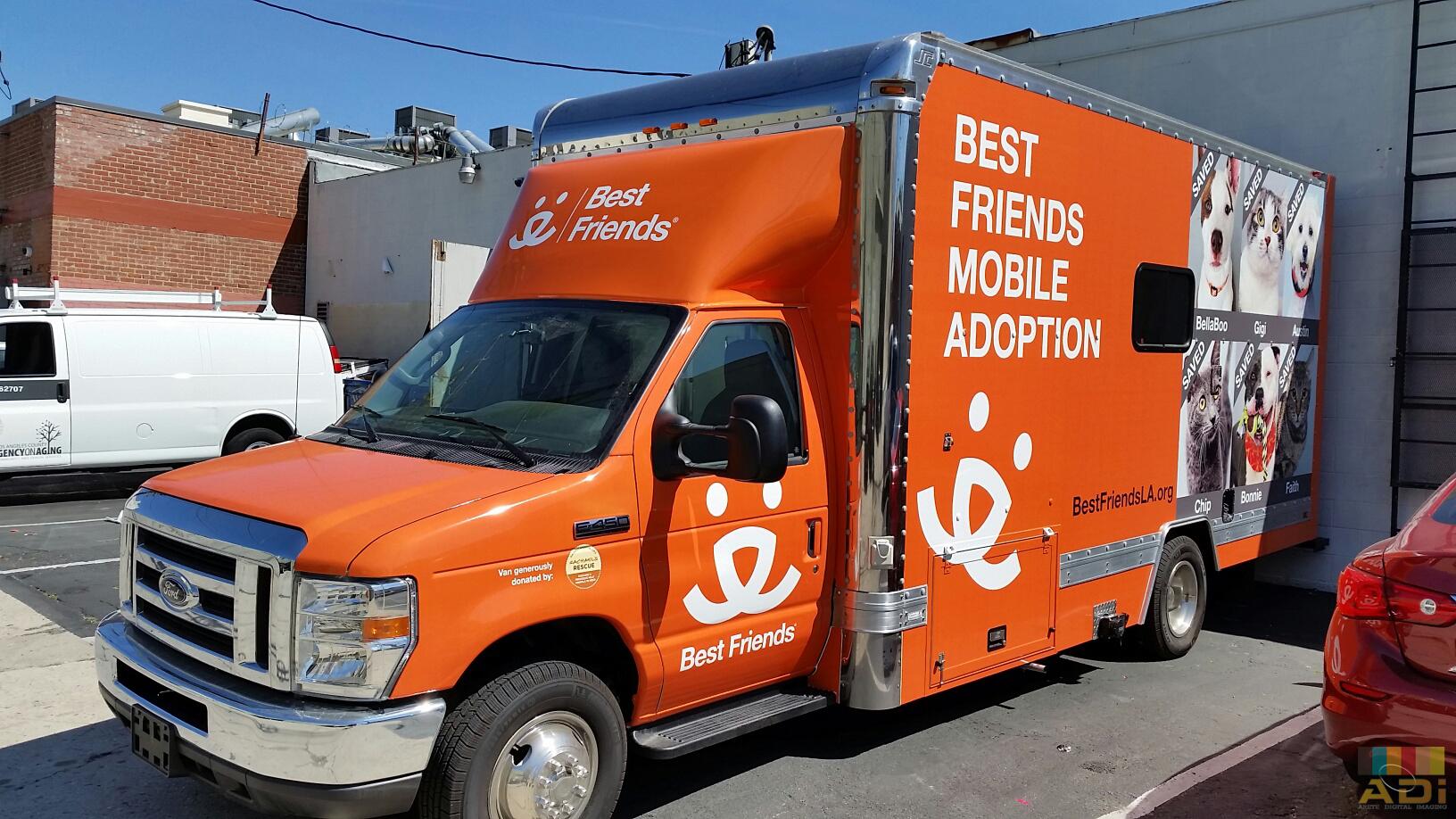 Best friends mobile adoption Truck Wrap