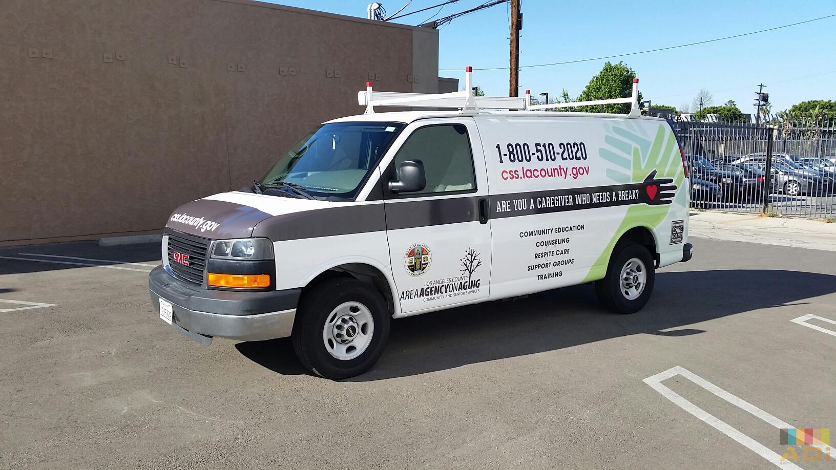 LA County Agency for Age Van Wraps