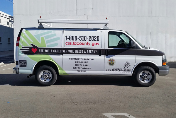 LA County Agency for Age Van Wraps