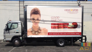 Box Truck Wrap for beauty product
