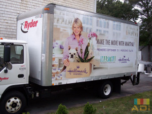 Television network uses Box Truck Wrap