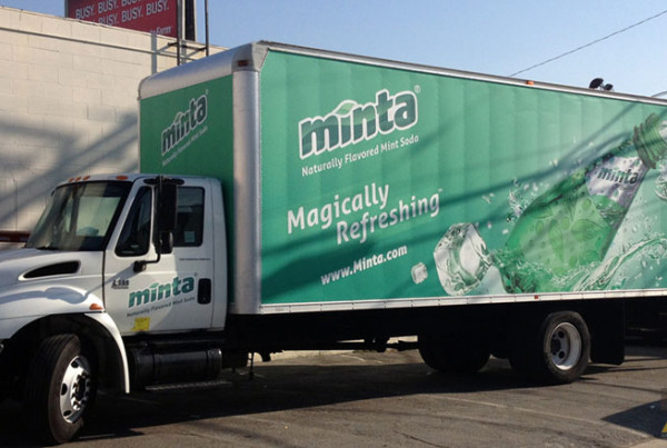 Soda Mobile Advertisement Box Truck Wrap