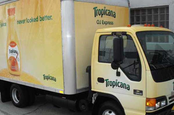 Box Truck Wrap Tropicana Mobile Advertisement