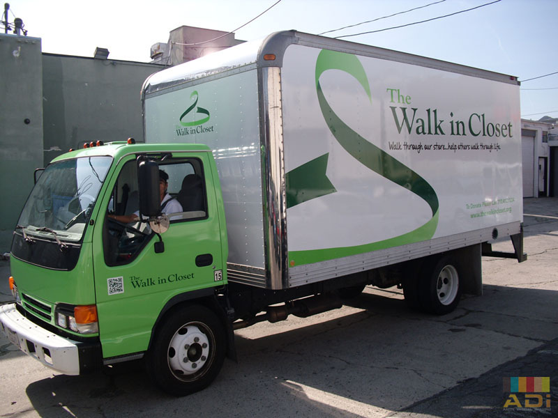 Box Truck Wrap Walk in Closet