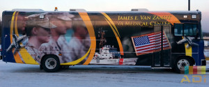 Army Print Bus Wrap