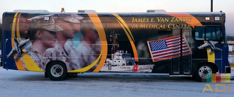 Army Print Bus Wrap