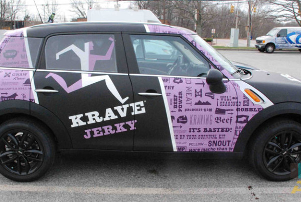 Krave Jerky Mobile Advertisement Car Wrap